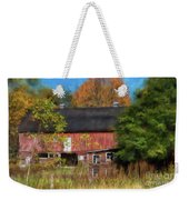 Red Barn In October Weekender Tote Bag