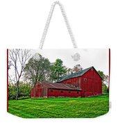 Red Barn In Ohio Weekender Tote Bag