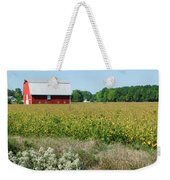 Red Barn In Pasture Weekender Tote Bag