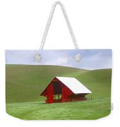 Red Barn In Spring Weekender Tote Bag