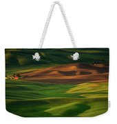 Red Barn In The Morning Sun Weekender Tote Bag