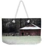 Red Barn On The Drive Weekender Tote Bag