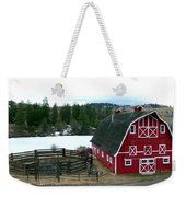 Red Barn Weekender Tote Bag by Will Borden