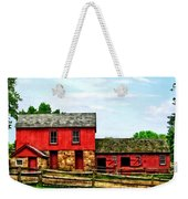 Red Barn With Fence Weekender Tote Bag