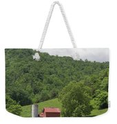 Red Barn Yellow Buttercups Weekender Tote Bag