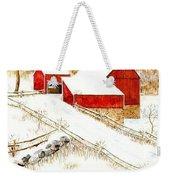 Red Barns Weekender Tote Bag