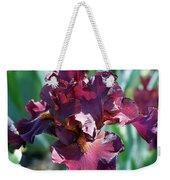 Red Bearded Iris Photograph Weekender Tote Bag