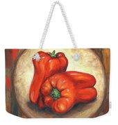 Red Bell Peppers Weekender Tote Bag
