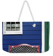 Red Bench Blue House Weekender Tote Bag
