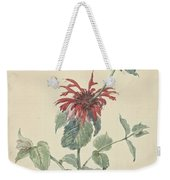 Red Bergamot In A Landscape, Aert Schouman Surroundings Of, C. 1750 - C. 1775 Weekender Tote Bag