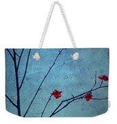 Red Berries Blue Sky Weekender Tote Bag