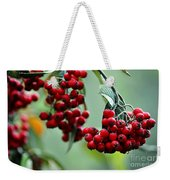 Red Berries Weekender Tote Bag