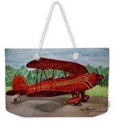 Red Biplane Weekender Tote Bag