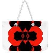 Red Black Botanical Summer Weekender Tote Bag