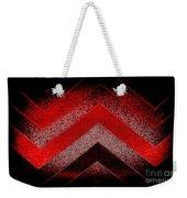 Red Black Chevron Weekender Tote Bag