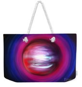 Red-black-white Planet. Twisted Time Weekender Tote Bag