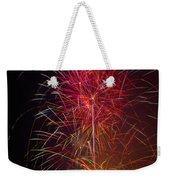 Red Blazing Fireworks Weekender Tote Bag