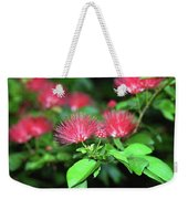 Red Blossoms Weekender Tote Bag