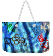 Red, Blue, And Black Tags Weekender Tote Bag