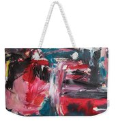 Red Blue Black Abstract Weekender Tote Bag