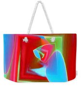 Red Blue Cubed Weekender Tote Bag