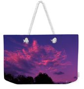 Red Blue Sky Weekender Tote Bag