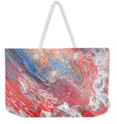 Red Blue White Abstract Weekender Tote Bag