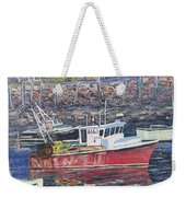 Red Boat Reflections Weekender Tote Bag