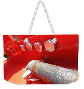 Red Bolt Action Weekender Tote Bag