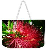 Red Bottle Brush Weekender Tote Bag