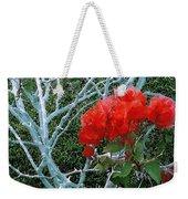 Red Bougainvillea Thorns Weekender Tote Bag