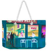 Red Boy Pizza Weekender Tote Bag