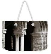 Red Brick Arches Black White Weekender Tote Bag