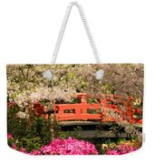 Red Bridge And Blossoms Weekender Tote Bag