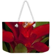 Red Bromiliad Weekender Tote Bag