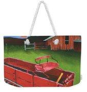 Red Buckboard Wagon Weekender Tote Bag