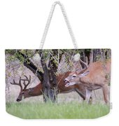Red Bucks 5 Weekender Tote Bag by Antonio Romero