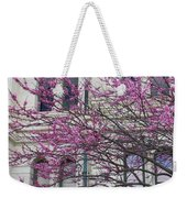 Red Buds And San Antonio City Hall Weekender Tote Bag