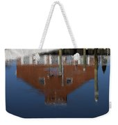 Red Building Reflection Weekender Tote Bag