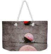 Red Buoys  Weekender Tote Bag