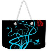 Red Butterfly And Vine Weekender Tote Bag