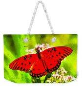 Red Butterfly Weekender Tote Bag