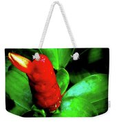 Red Button Ginger Weekender Tote Bag