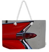 Red Cadillac Fin Weekender Tote Bag