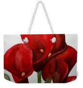 Red Callas Weekender Tote Bag