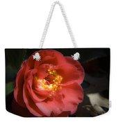 Red Camellia Bloom Weekender Tote Bag
