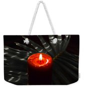 Red Candle Weekender Tote Bag