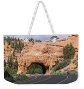 Red Canyon Tunnel Weekender Tote Bag