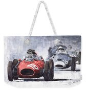 Red Car Ferrari D426 1958 Monza Phill Hill Weekender Tote Bag