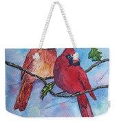 Red Cardinals Weekender Tote Bag